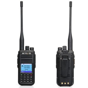 RETEVIS RT3S DMR Radio Digital Walkie Talkie GPS DMR Ham Radio Amador 5W VHF UHF Dual Band Encryption Compatible with Mototrbo 1