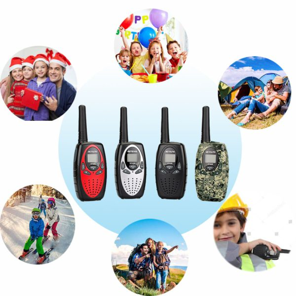 RETEVIS RT628 Mini Walkie Talkie 2pcs Kids Radio 0.5W PMR PMR UHF Frequency Portable Radio Station Handheld Radio Christmas Gift 4