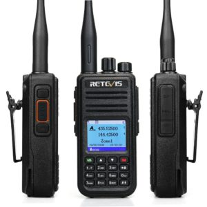 RETEVIS RT3S DMR Radio Digital Walkie Talkie GPS DMR Ham Radio Amador 5W VHF UHF Dual Band Encryption Compatible with Mototrbo 3