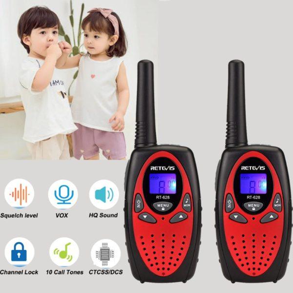 RETEVIS RT628 Mini Walkie Talkie 2pcs Kids Radio 0.5W PMR PMR UHF Frequency Portable Radio Station Handheld Radio Christmas Gift 3