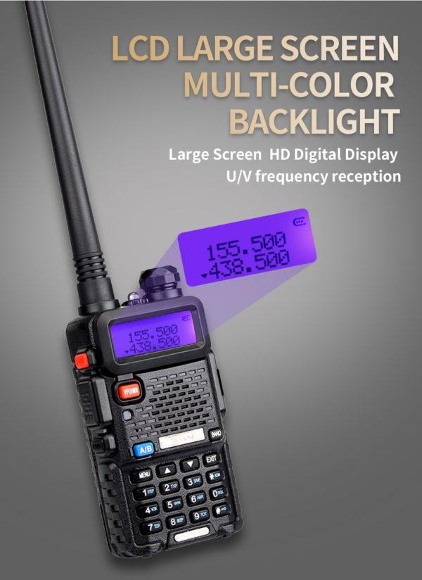 RETEVIS RT5R Handy Walkie Talkie 5W VHF UHF Ham Amateur Radio Station Two-way Radio Airsoft Game Walkie-Talkie for Baofeng UV-5R 2