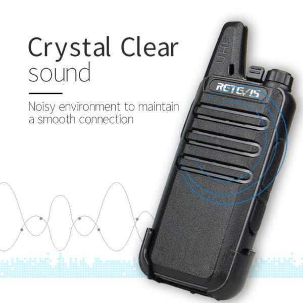 RETEVIS RT622 RT22 Mini PMR Walkie Talkie 2 pcs PMR446 PMR 446 Radio FRS VOX Handsfree Woki Toki Pair Two-way Radio Comunicador 2
