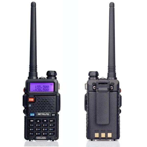 RETEVIS RT5R Handy Walkie Talkie 5W VHF UHF Ham Amateur Radio Station Two-way Radio Airsoft Game Walkie-Talkie for Baofeng UV-5R 3