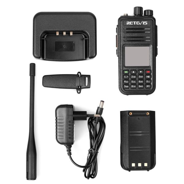 RETEVIS RT3S DMR Radio Digital Walkie Talkie GPS DMR Ham Radio Amador 5W VHF UHF Dual Band Encryption Compatible with Mototrbo 5